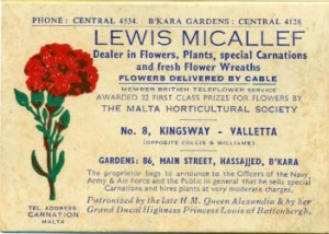 image of an old certificate of authenticity for qronfla flower retailers