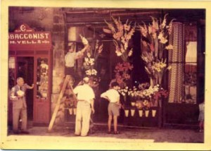 image of florists at original qronfla store arranging flowers and plants